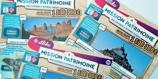 Loto du patrimoine: vous pourrez remonter le moral de Stéphane Bern dès le 3 septembre avec seulement 3 euros (photo: les tickets du jeu à gratter pour le patrimoine).