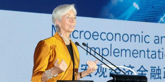 Christine Lagarde, directora del FMI, en Pekín (China).