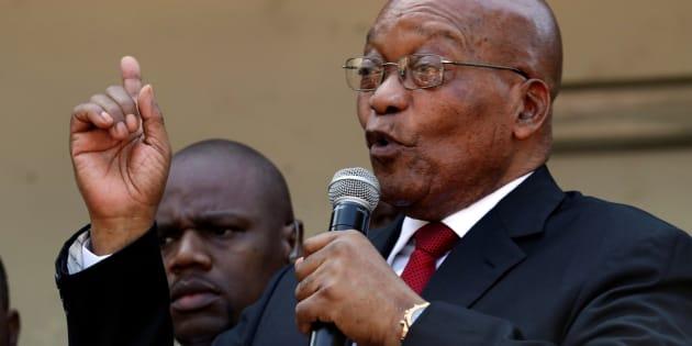 Jacob Zuma, former president of South Africa. April 6, 2018.