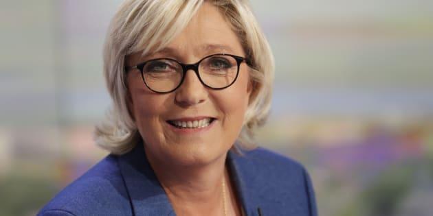 Marine Le Pen au JT du 20 heures de TF1.