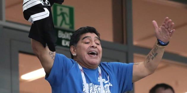 Maradona se declaró aficionado de la Selección Mexicana luego de que esta venciera a Alemania y a Corea del Sur.
