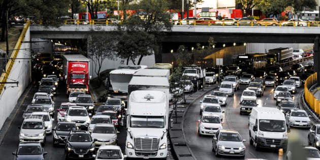 Rush hour in the afternoon at Mexico City