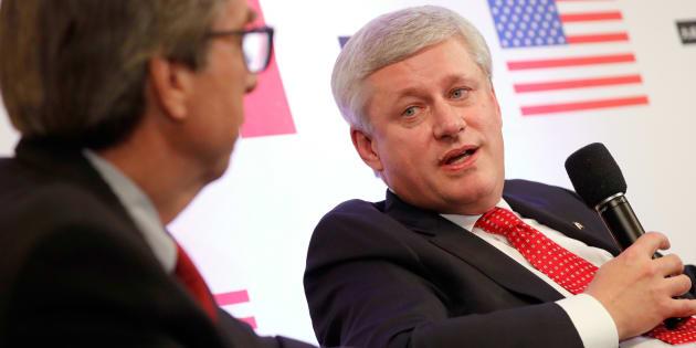 Ambassador Gordon D. Giffin and Stephen Harper speak about Trump, Trudeau, and Nieto at Dentons NAFTA 2.0 Summit on Oct. 11, 2017 in Washington, DC.