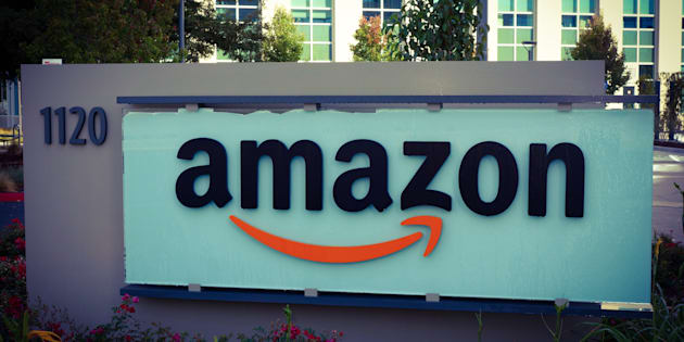 A sign outside the Amazon corporate office building in Sunnyvale, Calif. The company announced Monday it is expanding its staffing in Vancouver by 3,000, bringing its Canadian staff total to around 6,000.
