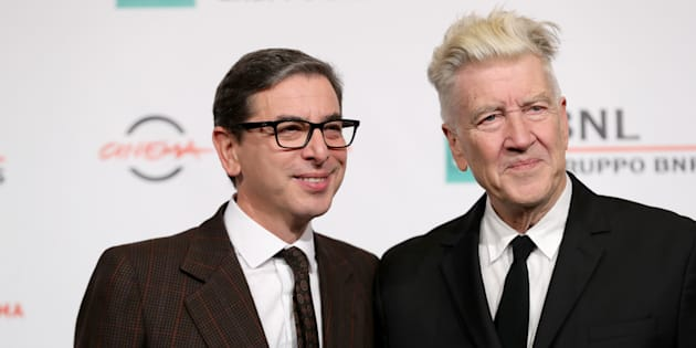 ROME, ITALY - NOVEMBER 04:  David Lynch and Antonio Monda (L) attend a photocall during the 12th Rome Film Fest at Auditorium Parco Della Musica on November 4, 2017 in Rome, Italy.  (Photo by Vittorio Zunino Celotto/Getty Images)