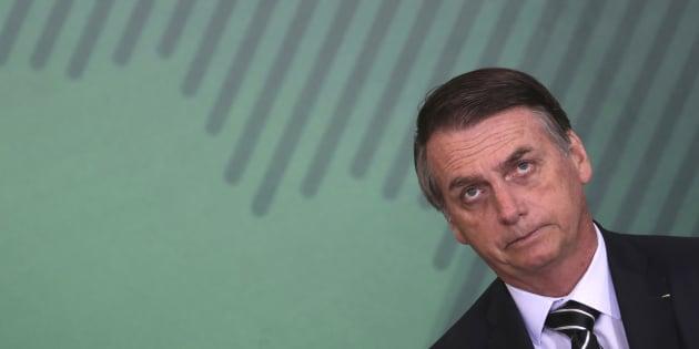 Jair Bolsonaro lors de sa cérémonie d'investiture.