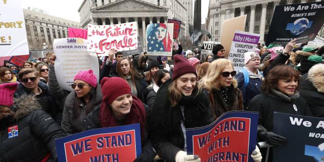 """L'organisation de la """"Marche des femmes"""" aux États-Unis était marquée cette année par des accusations d'antisémitisme."""