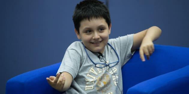 Carlos Antonio Santamaría Díaz, de 12 años, ingresará el próximo lunes a la licenciatura en Física Biomédica en la Facultad de Ciencias de la UNAM, tras lograr 105 aciertos en el concurso de selecciÓn de ingreso al ciclo escolar 2019.