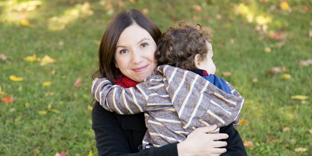 """Natalie Stechyson and her son, who is loved more than anything but may be a """"one and done"""" situation."""
