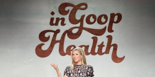 Gwyneth Paltrow speaks onstage at the In Goop Health Summit on June 9 in Culver City, California.