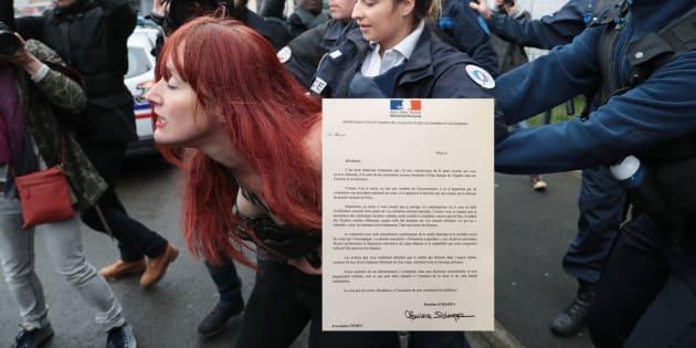La lettre de soutien de la secrétaire d'Etat Marlène Schiappa aux Femen, en plein procès pour exhibition sexuelle
