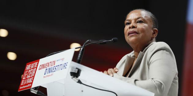 Christiane Taubira à Paris le 5 février 2017.