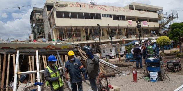 Daños en el Colegio Enrique Rébsamen dejaron un saldo de 19 niños muertos y 7 adultos.