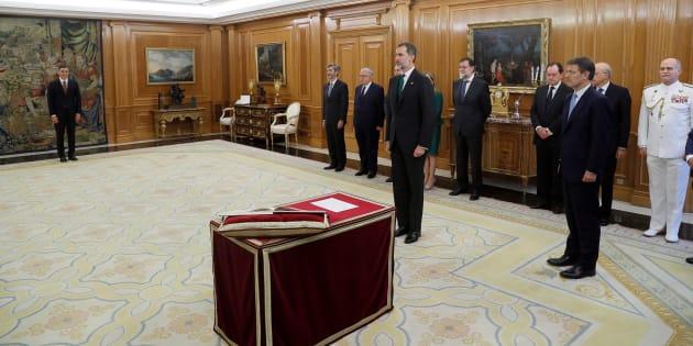 Toma de posesión de Pedro Sánchez como presidente del Gobierno, en un acto en el Palacio de la Zarzuela el pasado 2 de junio.
