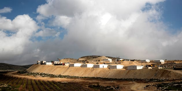 Vista del asentamiento judío Amijai, en Cisjordania.