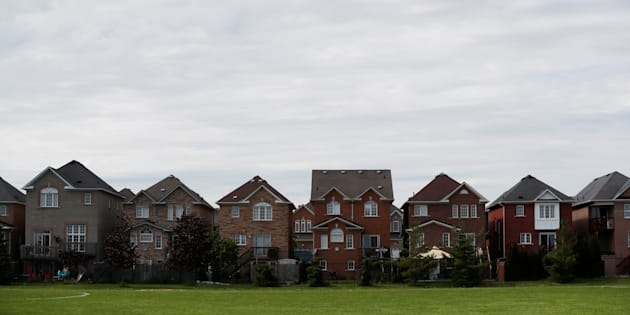 Houses back onto a park in Vaughan, a suburb with an active real estate market, in Toronto, Canada, May 24, 2017.