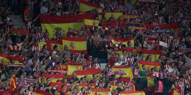"""""""Viva España"""" chante à pleins poumons le public madrilène pour la venue du Barça ce 14 octobre 2017."""