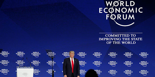 U.S. President Donald Trump attends the World Economic Forum (WEF) annual meeting in Davos, Switzerland January 26, 2018.