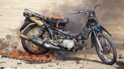 Horrific Video Shows Man Burning On Maharashtra Highway, No One Offering