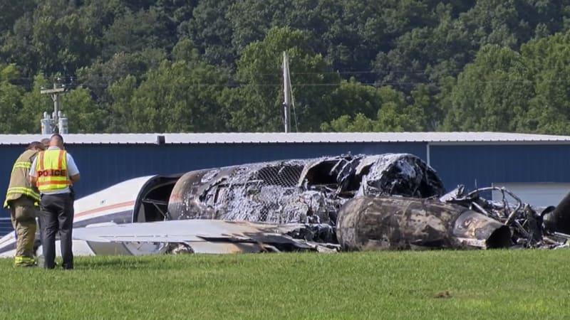 Dale Earnhardt Jr 's light plane crashes, but sister says