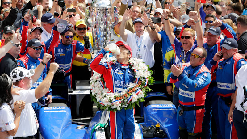 Takuma Sato is the first Japanese driver to win Indy 500