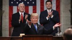 Devant le Congrès, Trump se pose en rassembleur après une année