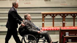 George W.H. Bush Admitted To Hospital A Day After His Wife's