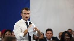 Macron revient de banlieue avec un