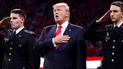 Trump Didn't Sing All The Words To The National Anthem At National Championship