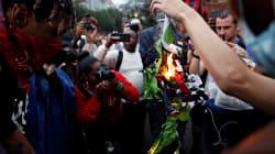 Les images des contre-manifestations antiracistes à