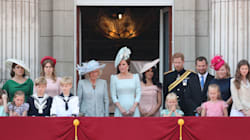 Meghan Markle And Prince Harry Make Their Royal Balcony Debut During Trooping The