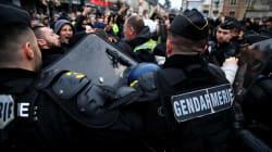 Tensions à Grand Bourgtheroulde pour la visite de Macron, des lacrymogènes