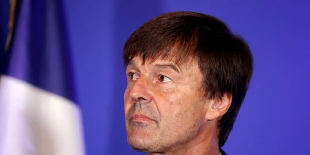 Nicolas Hulot en conférence à Paris le 6 juillet.