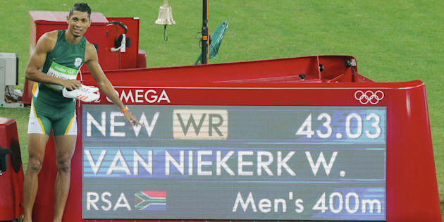 Wayde Van Niekerk of South Africa has Ans Botha, a 74-year-old great-grandmother, to thank for this.