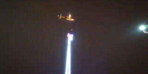 Huit personnes bloquées dans un manège à 50 mètres du sol — Rennes