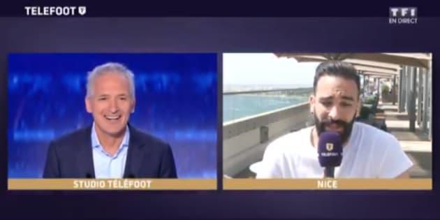 """Adil Rami a demandé un collier d'immunité à Denis Brogniart """"pour faire l'Euro 2020"""""""