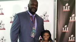 Simone Biles And Shaq Kick Off Super Bowl With An Epic