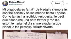 Rafael Nadal responde en Twitter a esta bisabuela