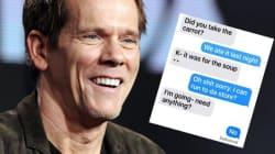Ce SMS de Kevin Bacon et sa femme reflète bien leurs 29 ans de