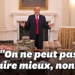 Trump était vraiment fier de son buffet de fast