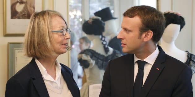 La ministre de la Culture Françoise Nyssen et le président de la République Emmanuel Macron.