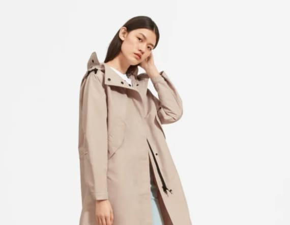 Everlane's raincoat is made from recycled bottles
