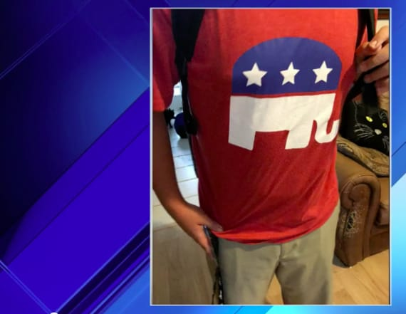 Middle school reprimands student for GOP shirt