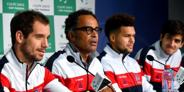 L'équipe de France de Coupe Davis à Lille le 21 novembre 2017.