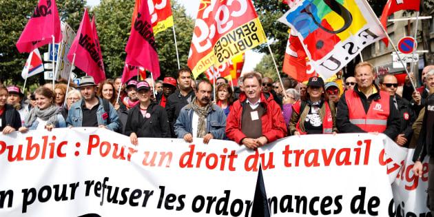 Manifestation contre la réforme du code du travail à l'appel de la CGT.