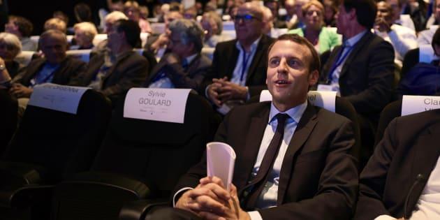 Emmanuel Macron à Lyon, au musée des Confluences, le 24 septembre 2016.