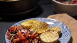 Patatas al horno con pico de gallo, por Carlos