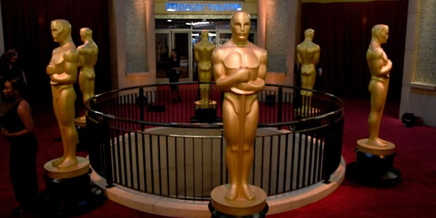 HOLLYWOOD, CA - FEBRUARY 26:  Oscar displays are seen during the 89th Annual Academy Awards at Hollywood & Highland Center on February 26, 2017 in Hollywood, California.  (Photo by Frazer Harrison/Getty Images)