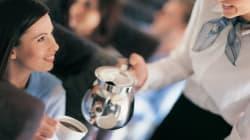 Nunca peça café ou chá durante o voo, recomenda