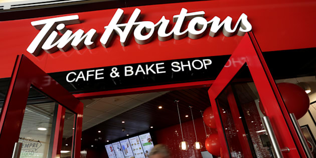 The entrance of a Tim Hortons coffee shop during a media event a day before its opening in San Pedro Garza Garcia, Mexico, Oct. 26, 2017. Tim Hortons is moving its headquarters from Oakville, Ont. to downtown Toronto.